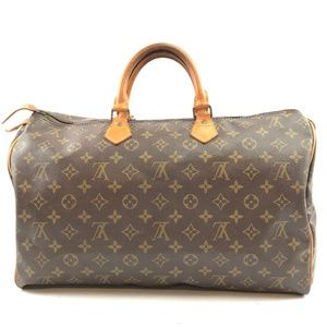 Speedy Duffle  Brown Monogram Canvas Satchel